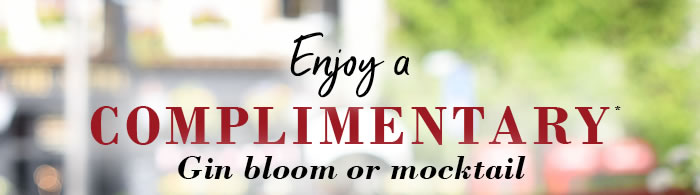 Enjoy a *FREE* Gin Bloom or Mocktail* at Café Rouge Weybridge Surrey to celebrate the launch of their new drinks collection. *T&C's apply