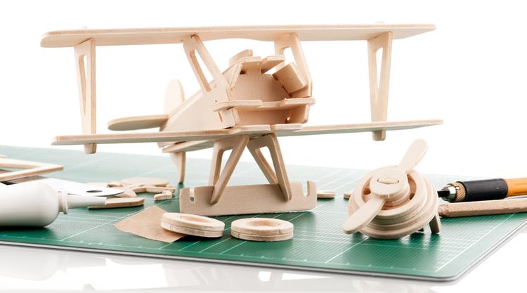 Model Airplane Kit - Weybridge Supplies Shop in 50s