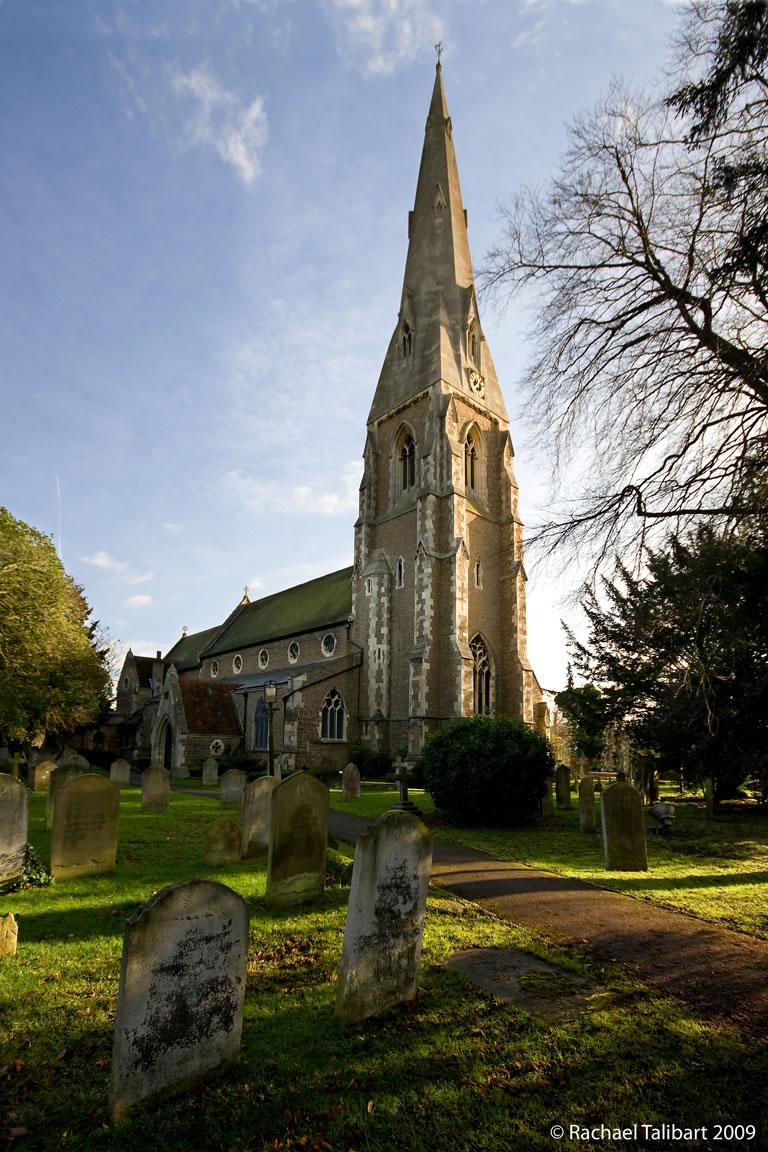 Exterior of St James' Church Weybridge Surrey
