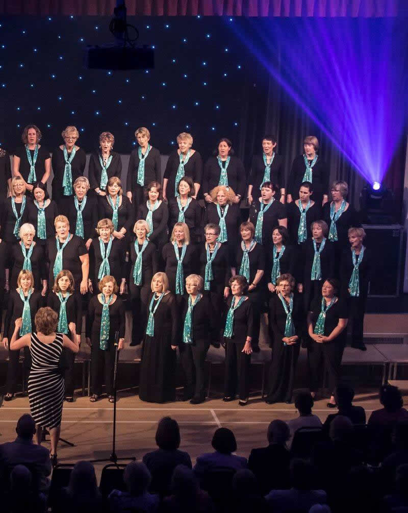Elmbridge Ladies Choir conducted by Dale Thomas in Concert at Addlestone Community Centre - Concert in Aid of YourSanctuary Charity