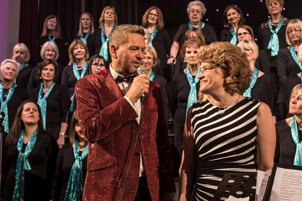 Elmbridge Choir MD Cliff Van Tonder pays tribute to Dale Thomas leader of the Ladies Choir