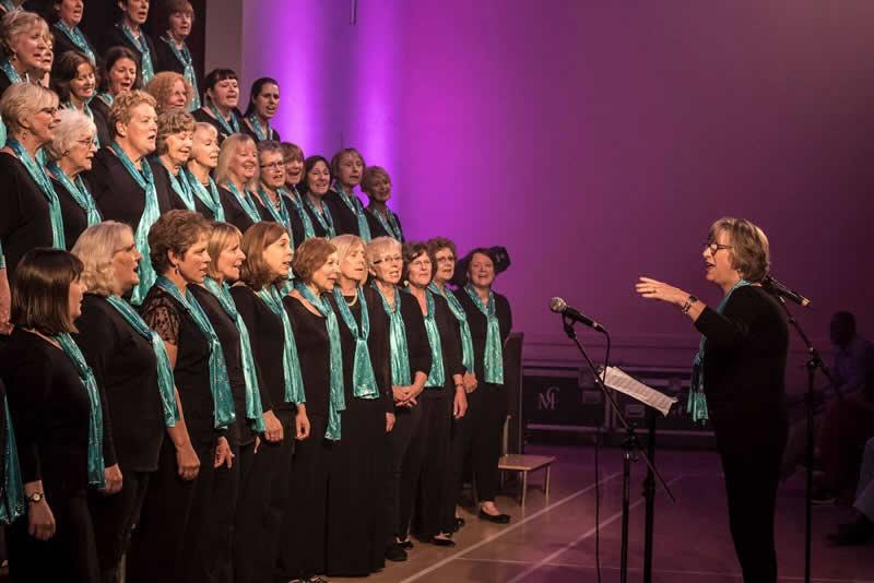 Elmbridge Ladies Choir, led by Dale Thomas's successor, Christine Parker