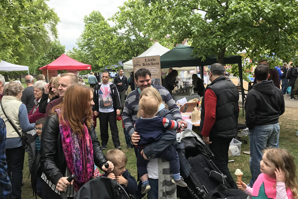 Food & Craft Market on Monument Green Weybridge Elmbridge Surrey