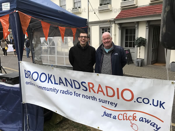 Brooklands Radio Outside Broadcast Team at Weybridge Monument Green event