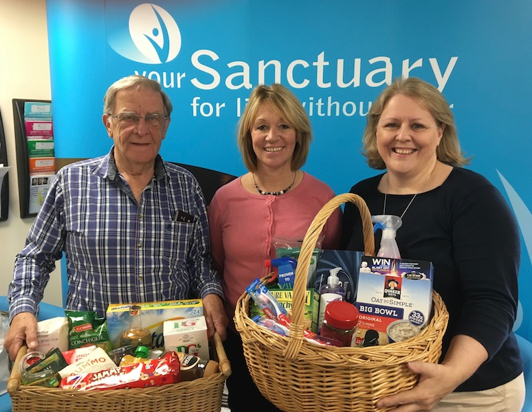 yourSanctuary Chrity receives donations of products from members of Elmridge Choir & Elmbridge Ladies Choir
