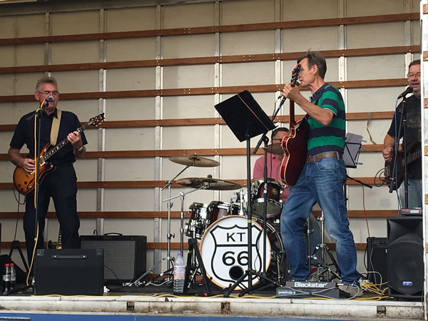 Live Music KT66 Band at Elmbridge Fun Day Brooklands Weybridge Surrey