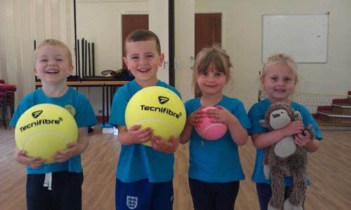 Tennis Lessons Fun & Play For Toddlers & Preschool Children in Weybridge Cobham West Byfleet & Woking Surrey
