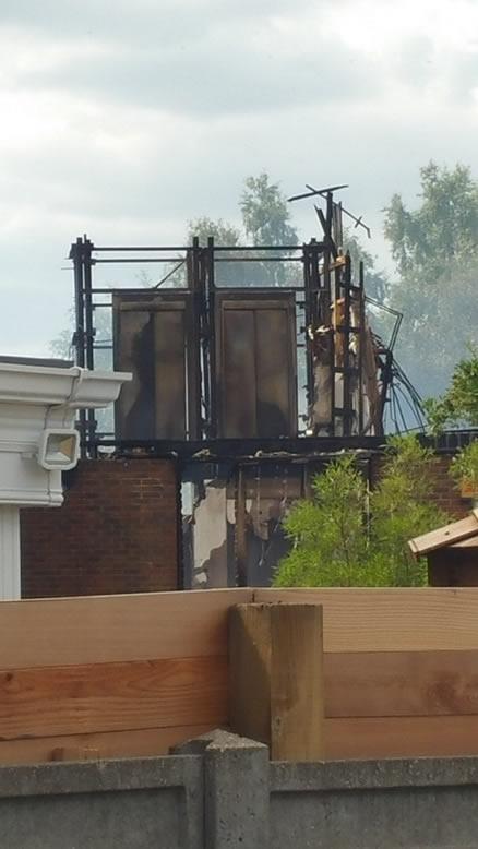 Lift Shaft Photo of Weybridge NHS Health Centre Fire