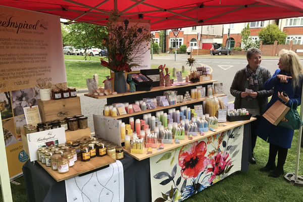 Bee Inspired - Honey & Beeswax Skin Carew - Market Stall at Farmers Market in Weybridge Elmbridge Surrey