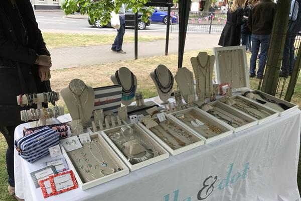 Stella & Dot Jewellery Stall at Weybridge Green Artisan Market Elmbridge Surrey