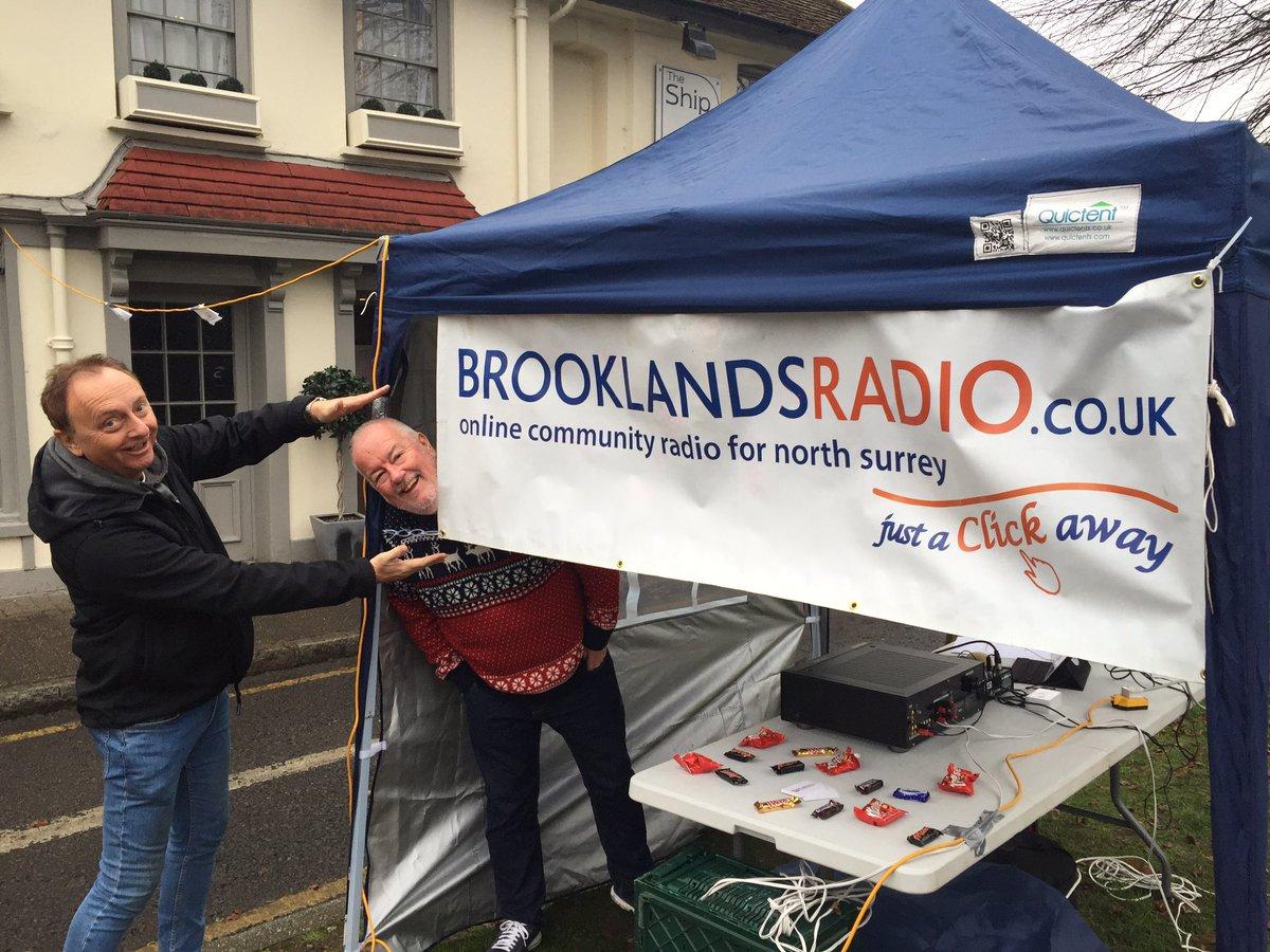 Brooklands Radio presenters at the Great Weybridge Cake Off Event