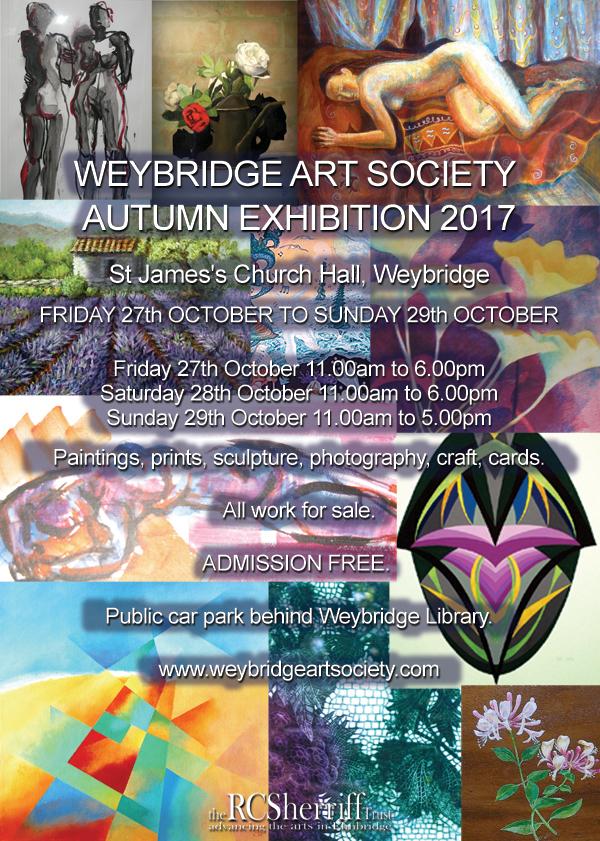 Weybridge Art Society Autumn Exhibition, October 2017 in Weybridge at St James Parish Church Hall