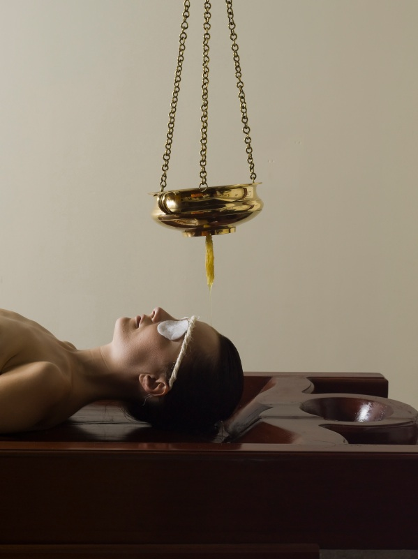 Shirodhara  (Forehead oil flow treatment) - Weybridge Surrey Therapist