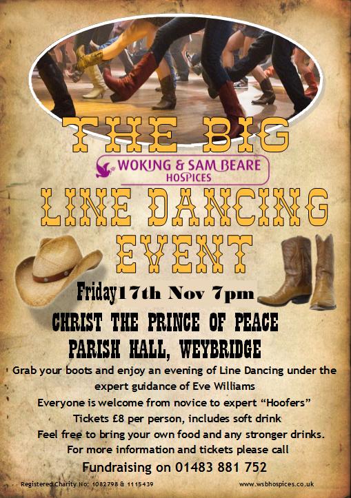 Line Dancing Charity event at Christ the Prince of Peace Parish Church Weybridge Surrey