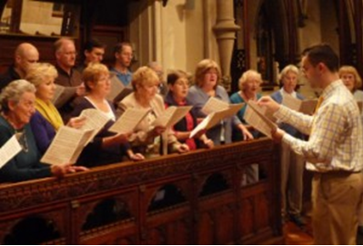 A Cappella singers Weybridge in rehearsal