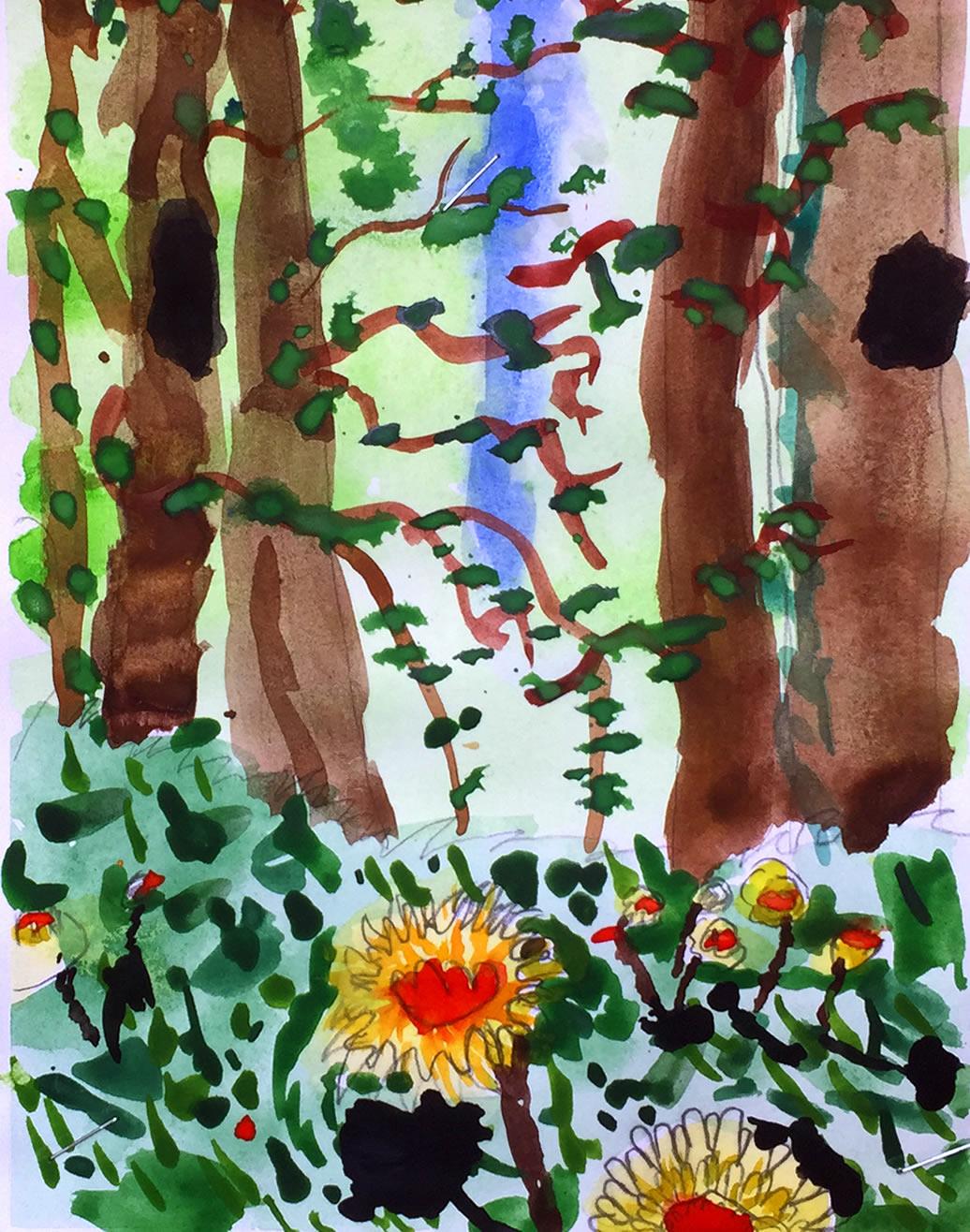 Trees paintings - Walton on Thames Elmbridge Art & Craft Clubs