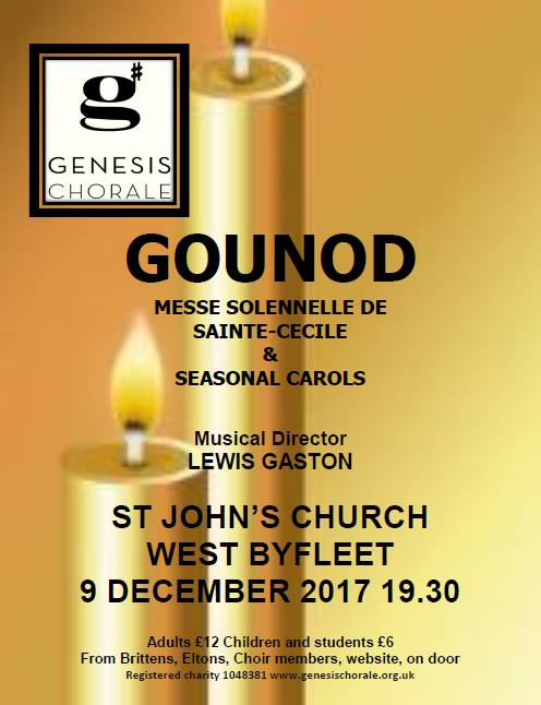 Genesis Chorale Christmas Concert at St Johns Church, West Byfleet.