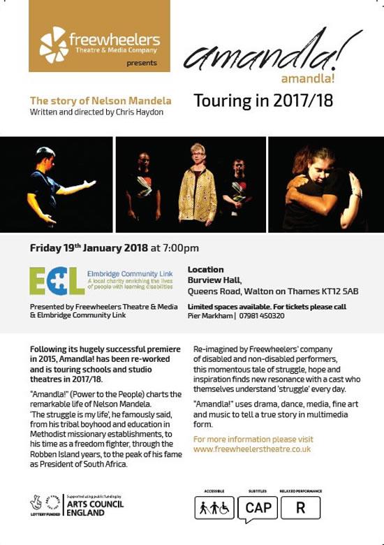 Amandla - The story of Nelson Mandela - Free performance by Freewheelers Theatre