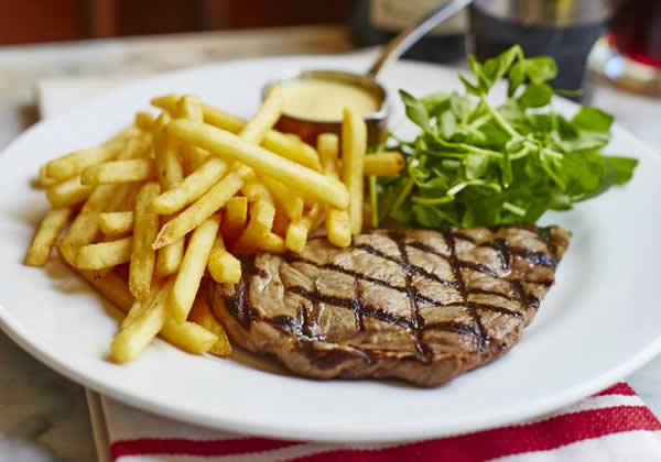 Cafe Rouge Weybridge Woking and Esher Restaurants - Steak and Fries Dish From Menu