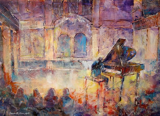 Piano Recital Painting from the Musicians Art Gallery