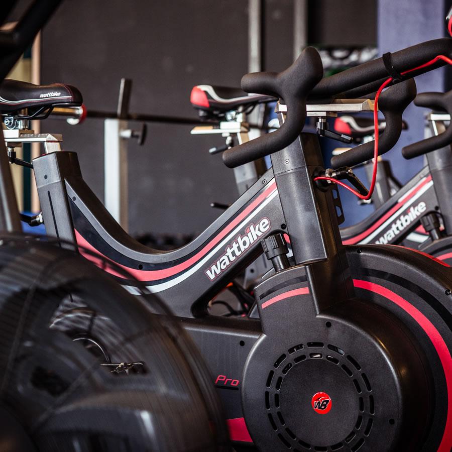 Wattbike Exercise Bikes - Indoor Cycling at Locker 27 Gym Weybridge Trading Estate