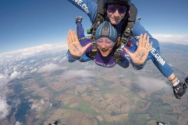 Woking and Sam Beare Weybridge Hospices Charity Sky Dive - Parachute Jump Fundraising Event