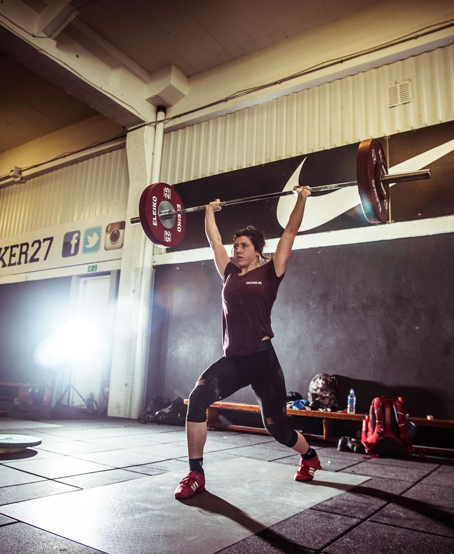 Woman Weightlifting at Locker27 Gym Addlestone Surrey