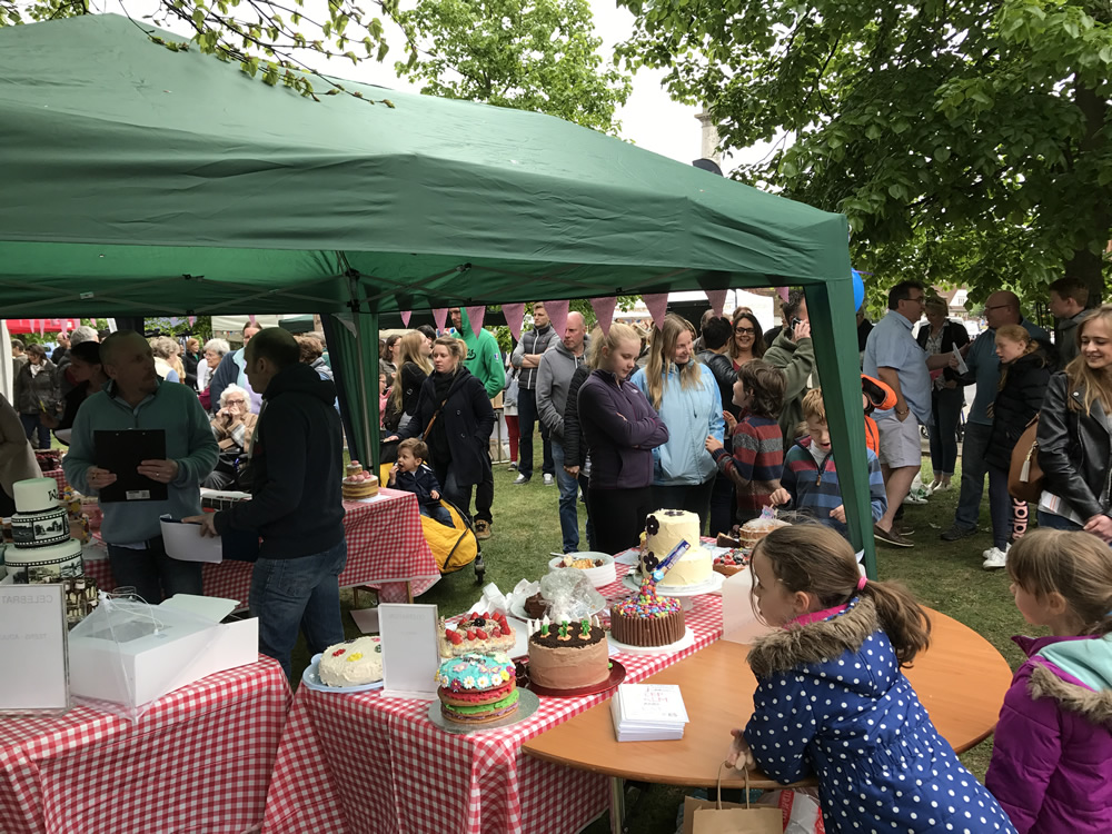 Children Looking at Cakes at Great Weybridge Bake Off