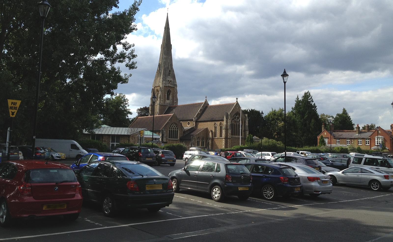 Churchfields Car Park in Weybridge Town Centre - Elmbridge Borough Council