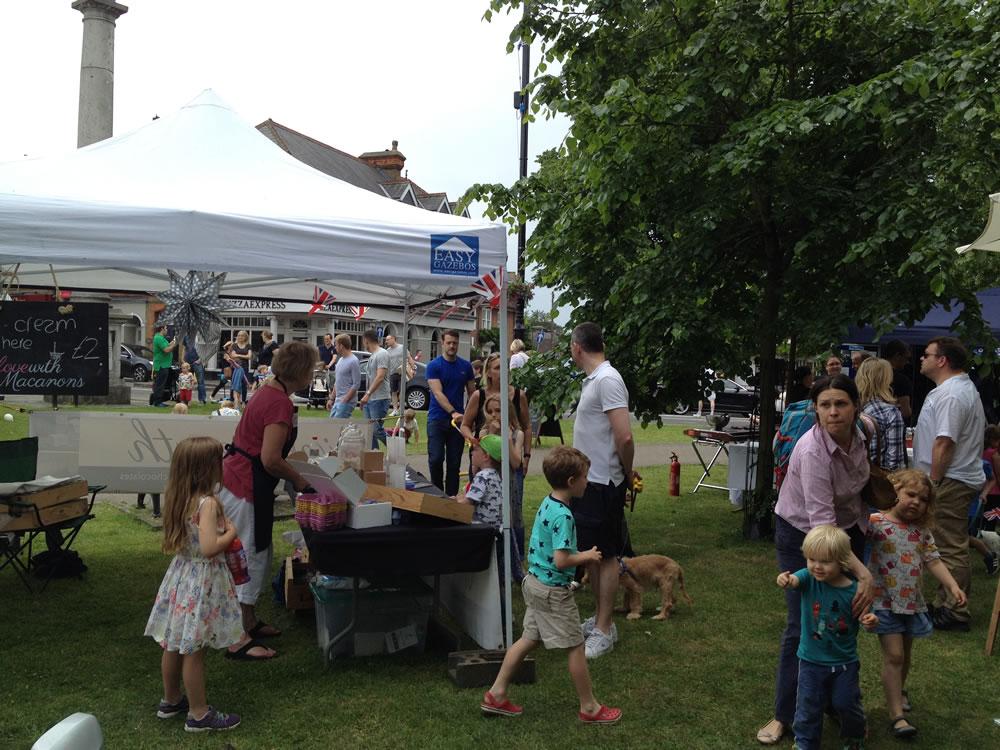 Community Party And Market On Monument Green Weybridge Surrey