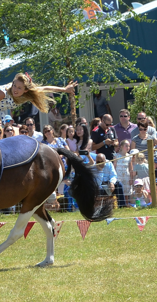 Galloping Acrobats Horse Display at Oatlands Village Fayre Weybridge Surrey