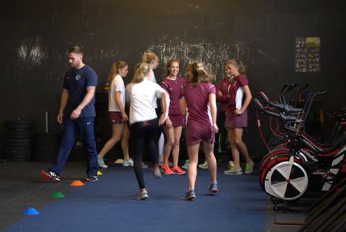 Girls at Childrens Fitness Classes at Gym's Youth Academy WeybridgeSurrey
