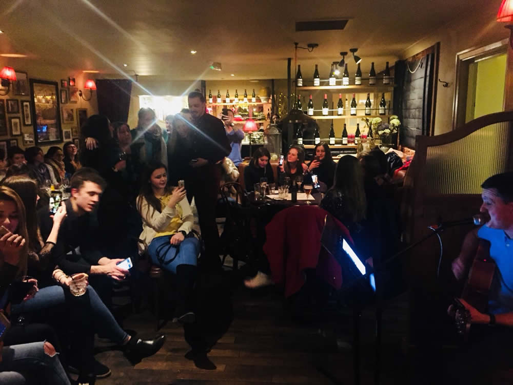 Singer Guitarist at Cafe Rouge Restaurant Weybridge was called Alex Kennedy and he was brilliant
