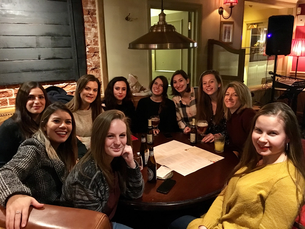 Students from Weybridge International School Of English at Social Night at Café Rouge