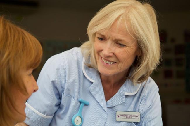 Woking & Sam Beare Weybridge Hospices - Carers to Patients In Surrey
