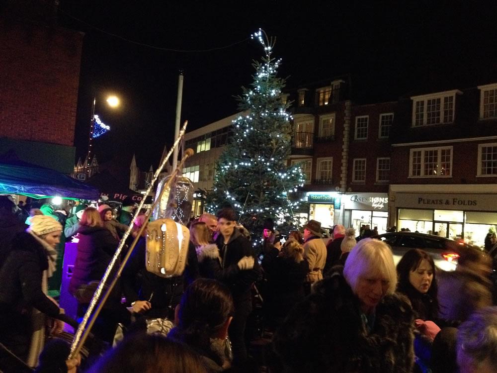 Christmas Lights and Christmas Tree - Xmas Market