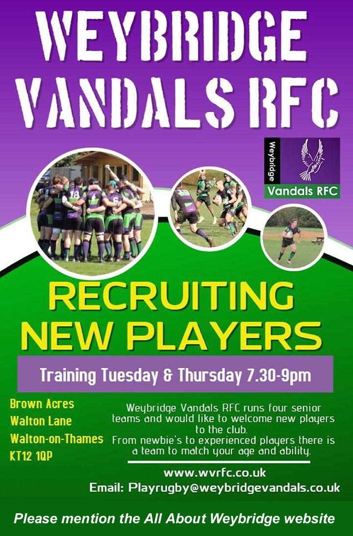 New Player Weybridge Rugby