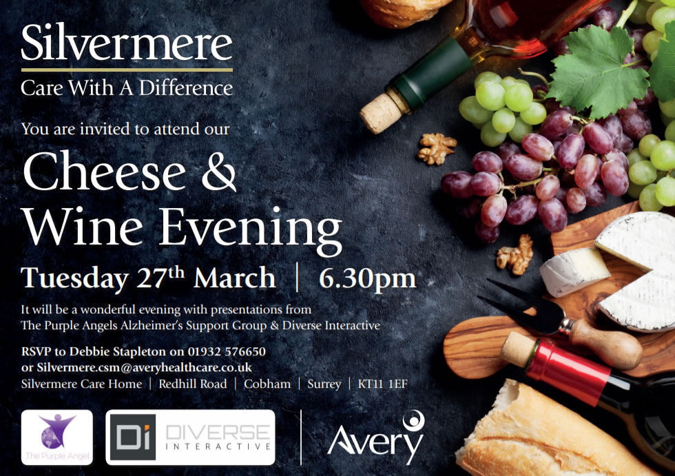 Avery Silvermere Care Home Wine and Cheese Event