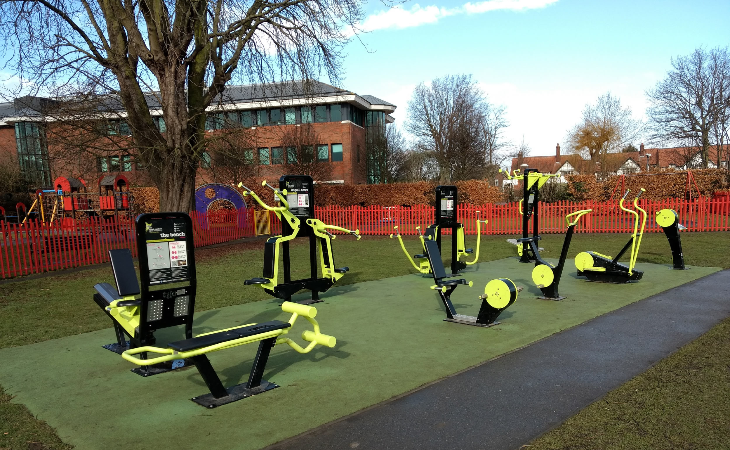 Outdoor Gym at Cobham Recreation Ground - Provided by Elmbridge Borough Council