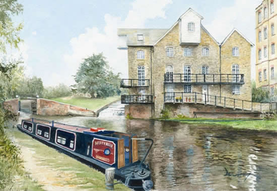 Wey Navigation Painting - Coxes Lock