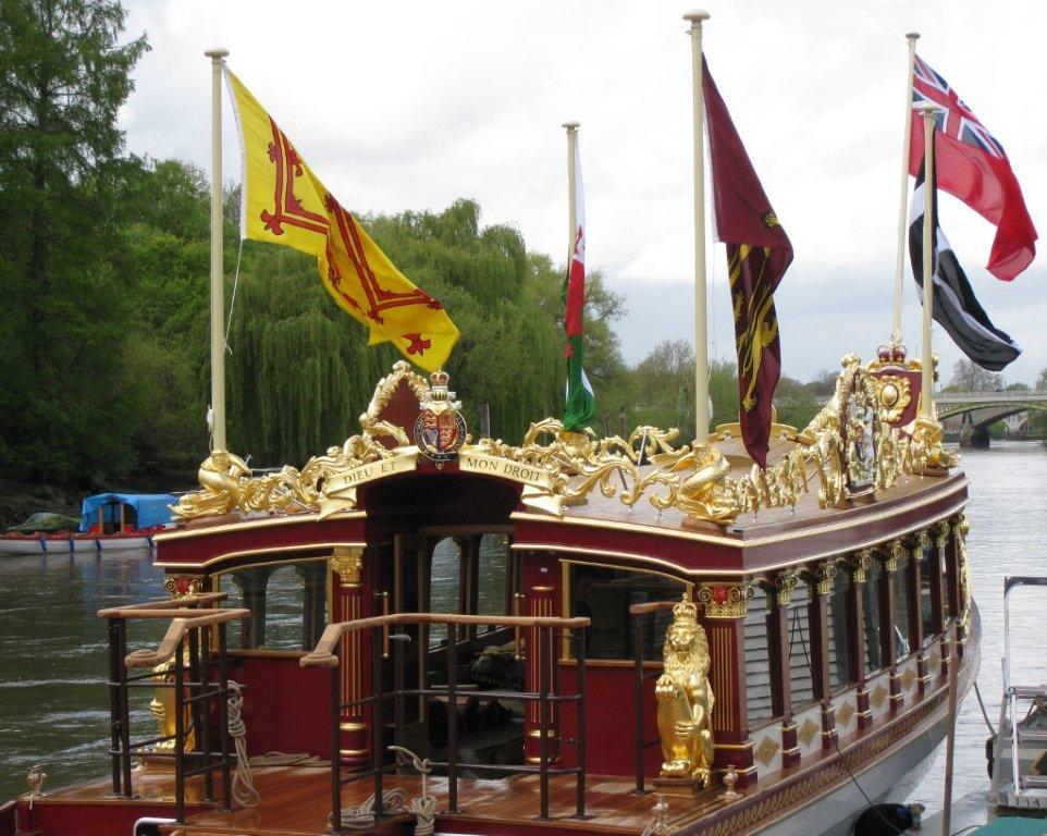 Queens Royal Barge Gloriana - Walton Weybridge Surrey