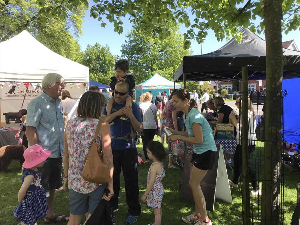 Families enjoy the Community Event in Weybridge