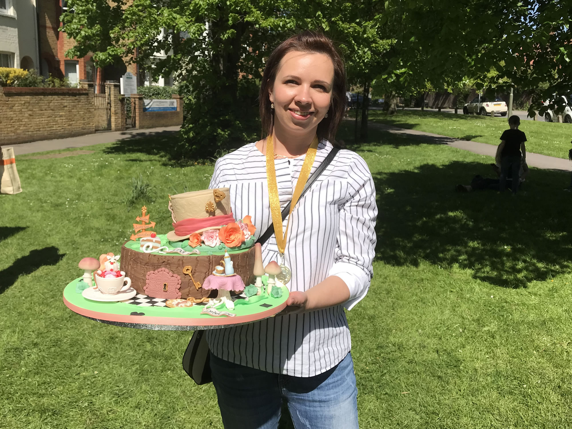 Great Weybridge Cake Off Best In Show Winner - Anna With Mad Hatters Tea Party Themed Celebration Cake