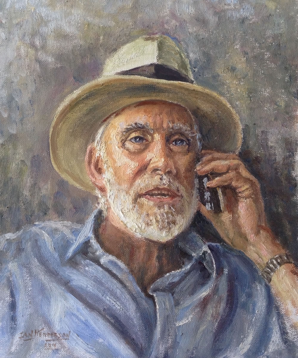 Portrait Painting Commissions - Ideal personalised gift for Weybridge people - Service by Surrey Artist Ian Henderson