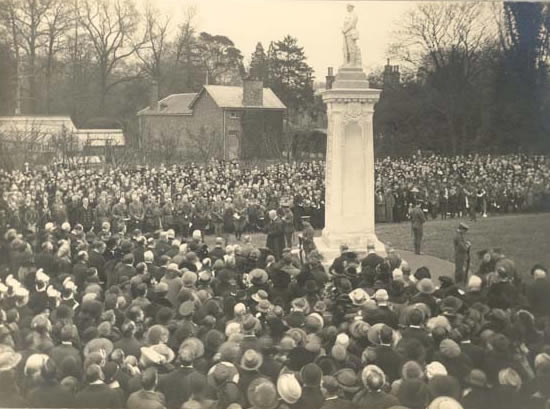Remembrance Day Weybridge Surrey History