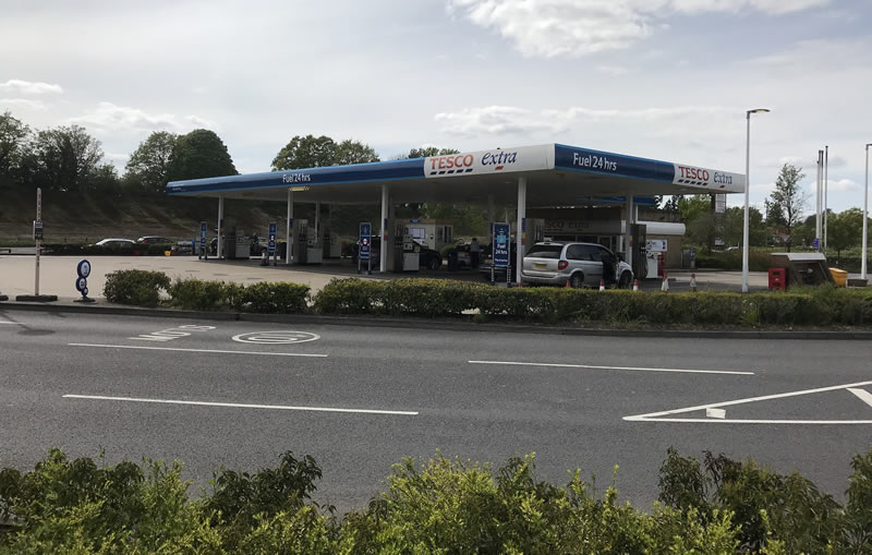 Tesco Petrol Station Car Wash Weybridge Brooklands Addlestone Surrey