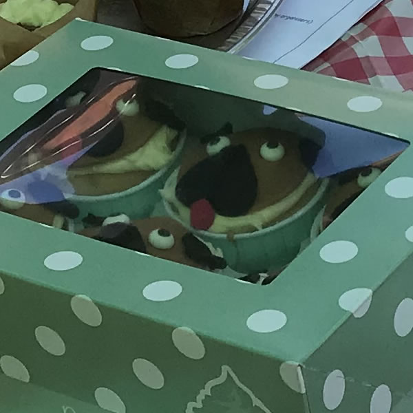 Weybridge Cake Competition Winner - Small Bakes - Pug Dogs
