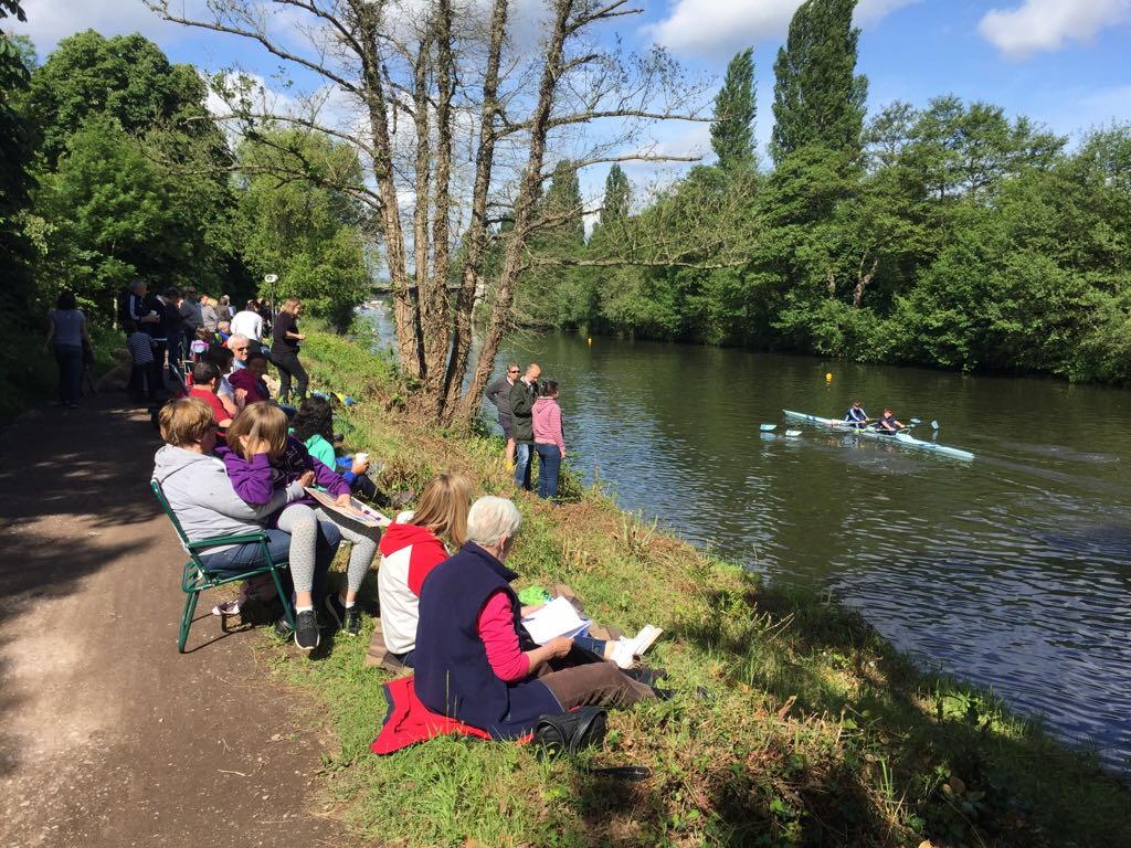 Regatta on the River Thames - Weybridge Ladies Amateur Rowing Club Walton Lane