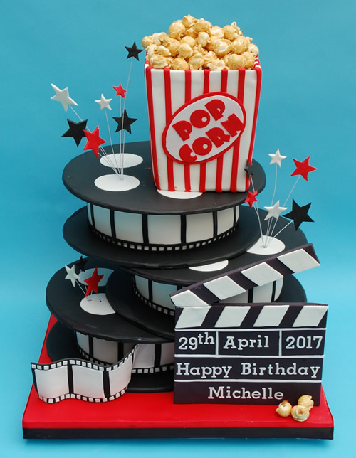 3D Popcorn Birthday Cake