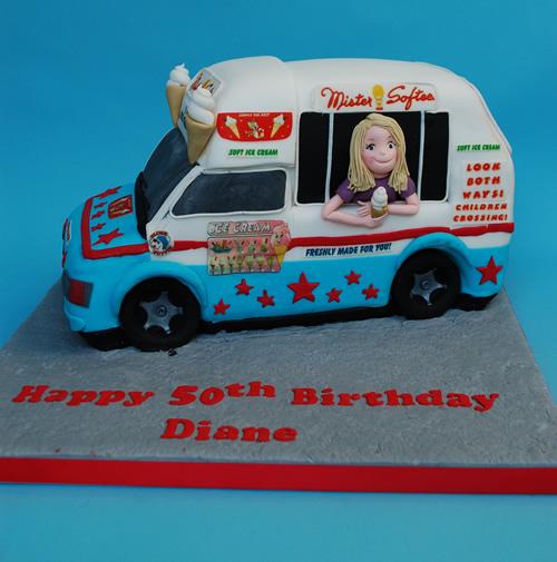 50th Birthday Ice Cream Van Cake